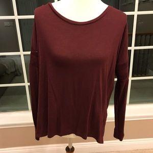Gap size large burgundy long sleeve shirt
